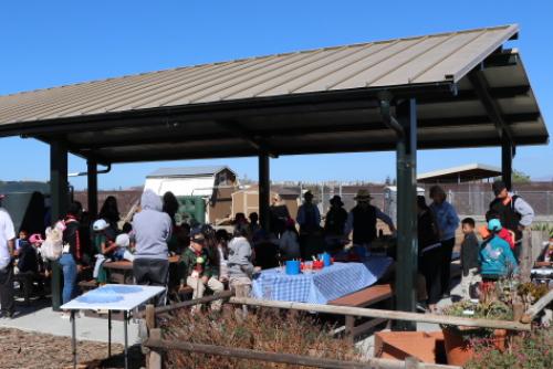 Master Gardener teaching pavilion at Martial Cottle Park